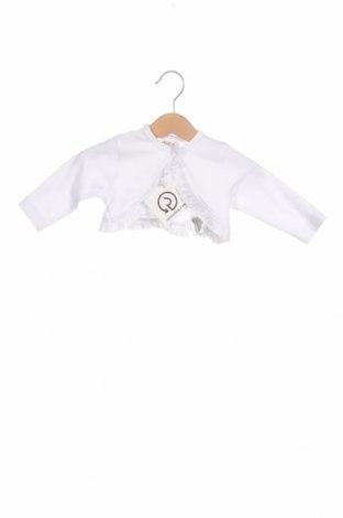 Детска жилетка Jacky, Размер 2-3m/ 56-62 см, Цвят Бял, Памук, Цена 10,20лв.