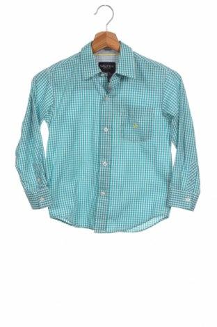 Детска риза Nautica, Размер 6-7y/ 122-128 см, Цвят Син, 55% памук, 45% полиестер, Цена 7,00лв.