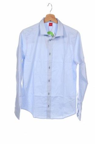 Παιδικό πουκάμισο S.Oliver, Μέγεθος 15-18y/ 170-176 εκ., Χρώμα Μπλέ, 96% πολυουρεθάνης, 4% ελαστάνη, Τιμή 17,42€