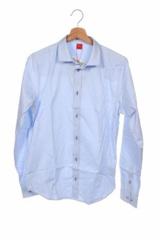 Παιδικό πουκάμισο S.Oliver, Μέγεθος 15-18y/ 170-176 εκ., Χρώμα Μπλέ, 96% βαμβάκι, 4% ελαστάνη, Τιμή 18,76€