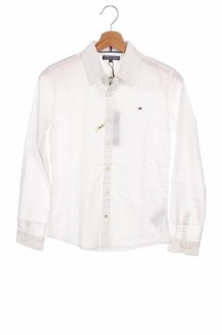 Dětská košile  Tommy Hilfiger, Velikost 12-13y/ 158-164 cm, Barva Bílá, 97% bavlna, 3% elastan, Cena  584,00Kč
