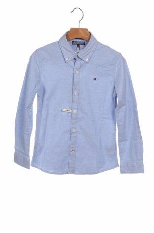 Παιδικό πουκάμισο Tommy Hilfiger, Μέγεθος 5-6y/ 116-122 εκ., Χρώμα Μπλέ, 98% βαμβάκι, 2% ελαστάνη, Τιμή 29,44€