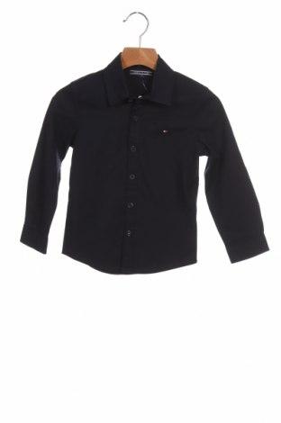 Παιδικό πουκάμισο Tommy Hilfiger, Μέγεθος 4-5y/ 110-116 εκ., Χρώμα Μπλέ, 97% βαμβάκι, 3% ελαστάνη, Τιμή 29,44€