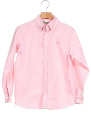 Παιδικό πουκάμισο United Colors Of Benetton, Μέγεθος 9-10y/ 140-146 εκ., Χρώμα Ρόζ , Τιμή 15,88€