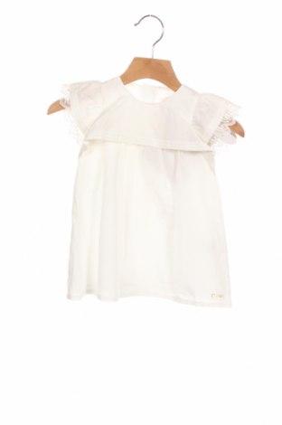 Dětské šaty  Chloé, Velikost 3-6m/ 62-68 cm, Barva Bílá, 70% bavlna, 30% hedvábí, Cena  1886,00Kč