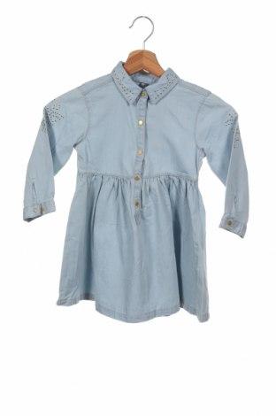 Dětské šaty  Zara, Velikost 4-5y/ 110-116 cm, Barva Modrá, Bavlna, Cena  455,00Kč