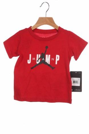 Παιδικό μπλουζάκι Air Jordan Nike, Μέγεθος 18-24m/ 86-98 εκ., Χρώμα Κόκκινο, Βαμβάκι, Τιμή 24,19€