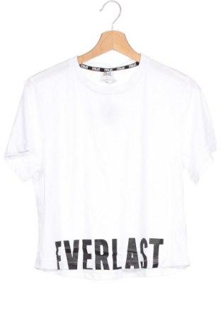 Tricou pentru copii Everlast, Mărime 14-15y/ 168-170 cm, Culoare Alb, 65% bumbac, 35% bumbac, Preț 53,05 Lei