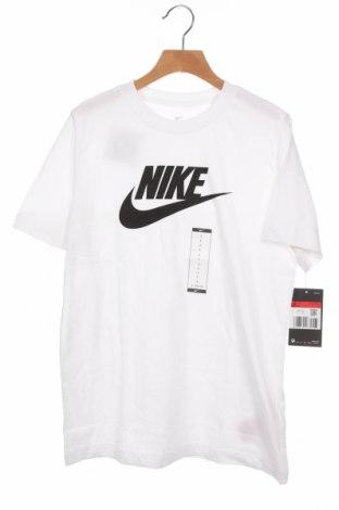 Παιδικό μπλουζάκι Nike, Μέγεθος 11-12y/ 152-158 εκ., Χρώμα Λευκό, Βαμβάκι, Τιμή 17,18€