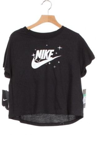 Παιδικό μπλουζάκι Nike, Μέγεθος 12-13y/ 158-164 εκ., Χρώμα Μαύρο, Βαμβάκι, Τιμή 17,18€
