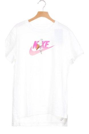 Παιδικό μπλουζάκι Nike, Μέγεθος 12-13y/ 158-164 εκ., Χρώμα Λευκό, Βαμβάκι, Τιμή 17,18€