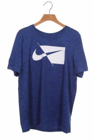 Детска тениска Nike, Размер 11-12y/ 152-158 см, Цвят Син, Полиестер, Цена 21,07лв.