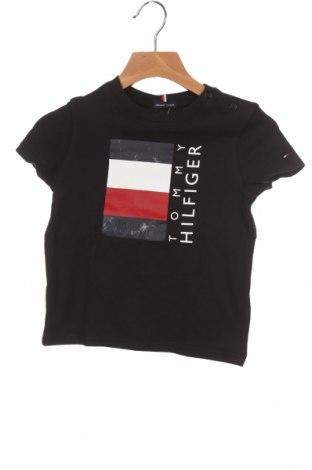 Παιδικό μπλουζάκι Tommy Hilfiger, Μέγεθος 18-24m/ 86-98 εκ., Χρώμα Μαύρο, Βαμβάκι, Τιμή 18,22€