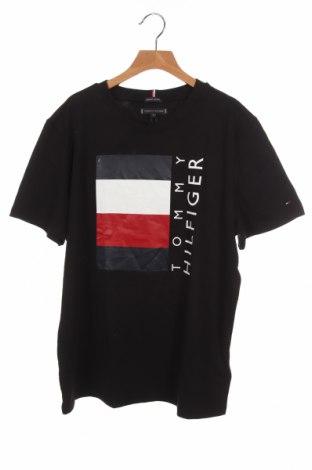 Παιδικό μπλουζάκι Tommy Hilfiger, Μέγεθος 15-18y/ 170-176 εκ., Χρώμα Μαύρο, Βαμβάκι, Τιμή 19,56€