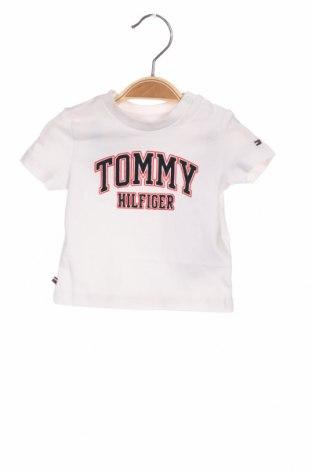 Παιδικό μπλουζάκι Tommy Hilfiger, Μέγεθος 1-2m/ 50-56 εκ., Χρώμα Λευκό, 93% βαμβάκι, 7% ελαστάνη, Τιμή 17,18€