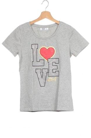 Детска тениска Wit Girl, Размер 14-15y/ 168-170 см, Цвят Сив, 95% памук, 5% еластан, Цена 4,46лв.