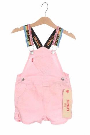 Παιδική σαλοπέτα Levi's, Μέγεθος 12-18m/ 80-86 εκ., Χρώμα Ρόζ , 97% βαμβάκι, 3% ελαστάνη, Τιμή 27,83€