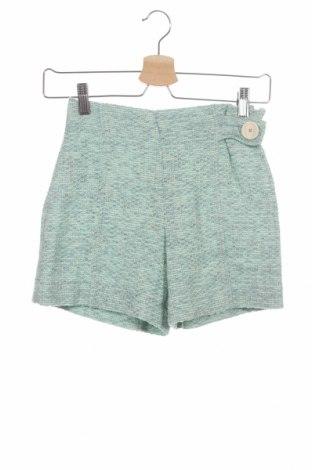 Детски къс панталон Zara Kids, Размер 13-14y/ 164-168 см, Цвят Зелен, 84% акрил, 5% акрил, 5% полиамид, 5% полиестер, 1% метални нишки, Цена 10,56лв.