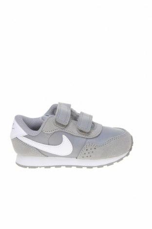 Παιδικά παπούτσια Nike, Μέγεθος 23, Χρώμα Γκρί, Φυσικό σουέτ, κλωστοϋφαντουργικά προϊόντα, δερματίνη, Τιμή 46,01€