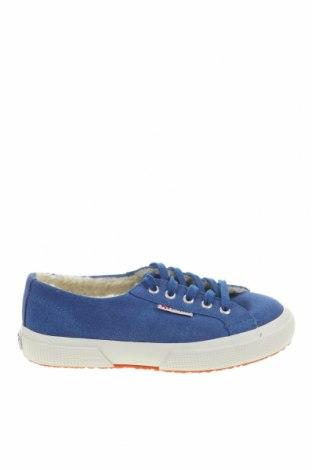 Детски обувки Superga, Размер 31, Цвят Син, Естествен велур, Цена 40,05лв.