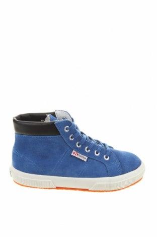 Детски обувки Superga, Размер 31, Цвят Син, Естествен велур, Цена 41,94лв.