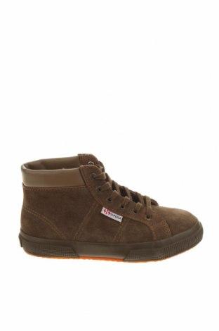 Dětské boty  Superga, Velikost 31, Barva Hnědá, Přírodní velur , Cena  660,00Kč