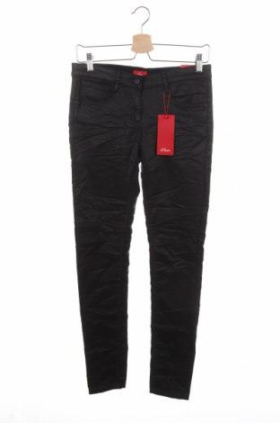 Παιδικό παντελόνι S.Oliver, Μέγεθος 15-18y/ 170-176 εκ., Χρώμα Μαύρο, 52% πολυεστέρας, 47% μοντάλ, 1% ελαστάνη, Τιμή 24,74€