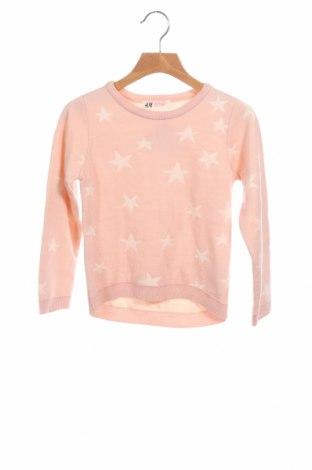 Dětský svetr  H&M, Velikost 4-5y/ 110-116 cm, Barva Růžová, Akryl , Cena  446,00Kč