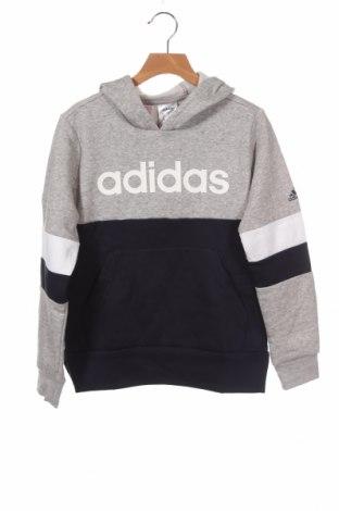 Παιδικό φούτερ Adidas, Μέγεθος 9-10y/ 140-146 εκ., Χρώμα Γκρί, 70% βαμβάκι, 30% πολυεστέρας, Τιμή 28,61€
