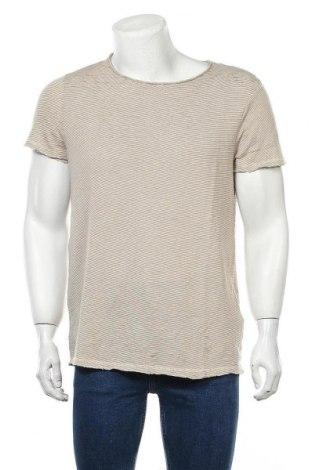 Ανδρική μπλούζα Review, Μέγεθος L, Χρώμα  Μπέζ, 55% βαμβάκι, 42% πολυεστέρας, 3% ελαστάνη, Τιμή 13,15€