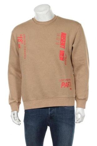 Мъжка блуза Topman, Размер S, Цвят Бежов, 65% памук, 35% полиестер, Цена 21,83лв.