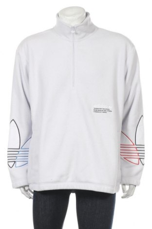 Ανδρική μπλούζα fleece Adidas Originals, Μέγεθος L, Χρώμα Λευκό, Πολυεστέρας, Τιμή 31,20€