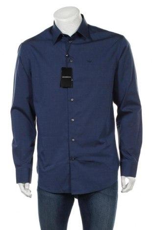 Ανδρικό πουκάμισο Emporio Armani, Μέγεθος L, Χρώμα Μπλέ, Βαμβάκι, Τιμή 142,66€
