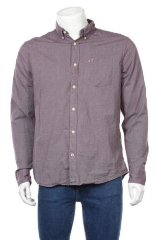 Ανδρικό πουκάμισο Hollister, Μέγεθος L, Χρώμα Βιολετί, 97% βαμβάκι, 3% ελαστάνη, Τιμή 11,60€