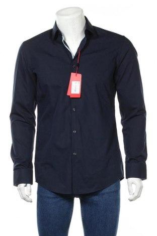 Ανδρικό πουκάμισο Hugo Boss, Μέγεθος M, Χρώμα Μπλέ, Βαμβάκι, Τιμή 84,67€