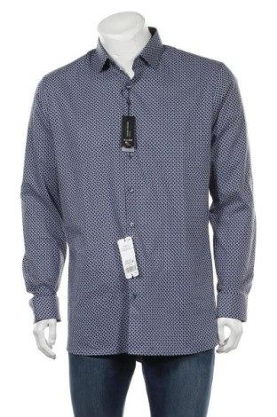 Мъжка риза Olymp, Размер XL, Цвят Син, 97% памук, 3% еластан, Цена 44,25лв.