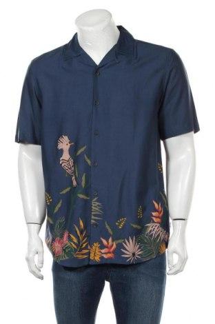 Мъжка риза Only & Sons, Размер L, Цвят Син, Вискоза, Цена 36,75лв.