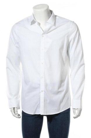 Мъжка риза Pier One, Размер L, Цвят Бял, 65% полиестер, 35% памук, Цена 25,92лв.