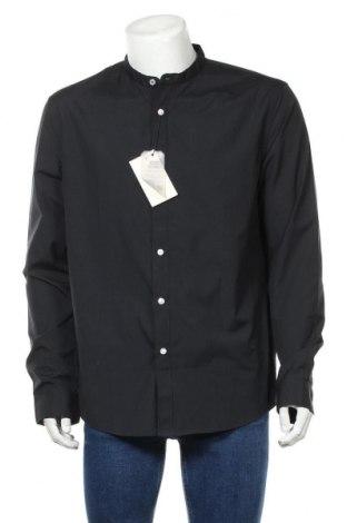Мъжка риза Pier One, Размер XL, Цвят Черен, 65% полиестер, 35% памук, Цена 23,00лв.