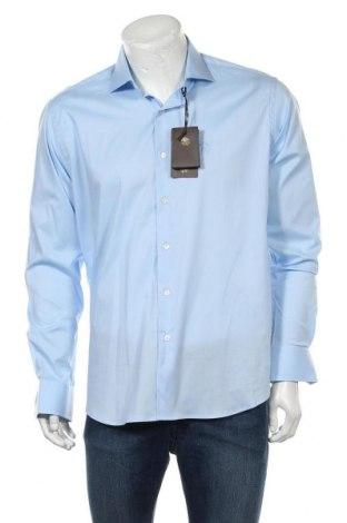Ανδρικό πουκάμισο Roberto Cavalli, Μέγεθος XL, Χρώμα Μπλέ, Βαμβάκι, Τιμή 123,32€
