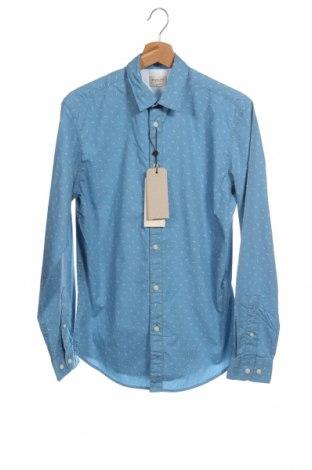 Мъжка риза Selected Homme, Размер XS, Цвят Син, Памук, Цена 8,11лв.