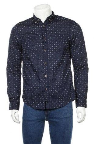 Мъжка риза Tom Tailor, Размер M, Цвят Син, Памук, Цена 39,00лв.