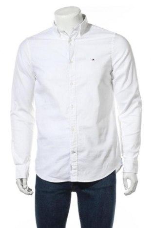 Ανδρικό πουκάμισο Tommy Hilfiger, Μέγεθος M, Χρώμα Λευκό, 98% βαμβάκι, 2% ελαστάνη, Τιμή 48,72€