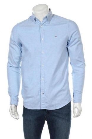 Ανδρικό πουκάμισο Tommy Hilfiger, Μέγεθος S, Χρώμα Μπλέ, 98% βαμβάκι, 2% ελαστάνη, Τιμή 52,30€