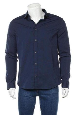 Ανδρικό πουκάμισο Tommy Hilfiger, Μέγεθος L, Χρώμα Μπλέ, 97% βαμβάκι, 3% ελαστάνη, Τιμή 48,54€