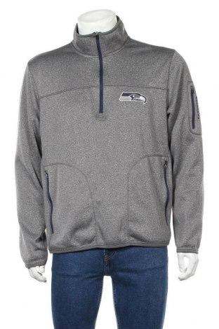 Мъжка спортна блуза NFL, Размер L, Цвят Сив, 93% полиестер, 7% еластан, Цена 15,12лв.
