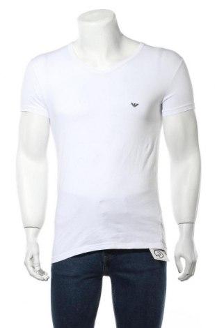 Ανδρικό t-shirt Emporio Armani Underwear, Μέγεθος L, Χρώμα Λευκό, 95% βαμβάκι, 5% ελαστάνη, Τιμή 49,87€