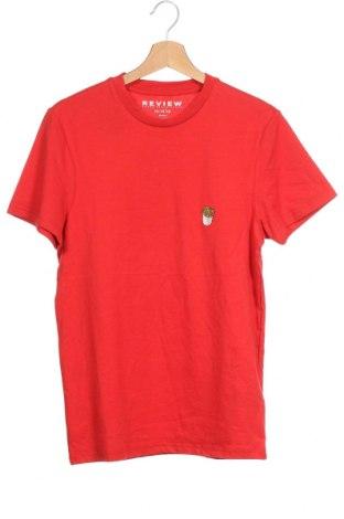 Мъжка тениска Review, Размер XS, Цвят Червен, Памук, Цена 9,62лв.