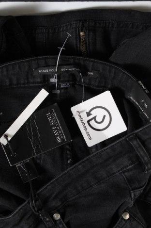 Мъжки дънки Brave Soul, Размер L, Цвят Черен, 89% памук, 2% еластан, Цена 44,25лв.