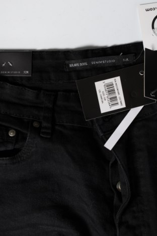 Мъжки дънки Brave Soul, Размер M, Цвят Черен, 98% памук, 2% еластан, Цена 44,25лв.